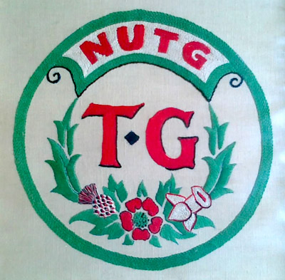 NUTG TG badge  - hand stitched to TG colours