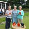 National Chairman, Jenny Rideout, with the Runners-Up, Barbara Gaskell & Enid Hilton