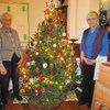 Jane Hayward and Alma Rowland from Codsall Morning helped to decorate a tree in the Christmas Tree Festival at St. Nicholas Church in Codsall Village.