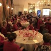 Lichfield Guild celebrated Canadian Thanksgiving with over 60 ladies dressed in red and white.  The canadian national anthem was sung and a Skype live link was made back to Toronto - with a family celebrating Thanksgiving.