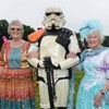 This photo of two of our members from Verwood Afternoon TG, with a Star Wars Stormtrooper at the Verwood Carnival!