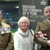 Marilyn Lawton, National Trustee and TG Ted attended an Army Engagement Team Event at the New York Stadium, Rotherham. Here they are pictured with Sergeant-Major Reggie Dunn and Major Sal Circo of the 4th Infantry Brigade.