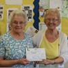Bloxwich Guild held a double celebration at their April meeting, not only did they celebrate a 21st birthday, but also Mrs Olwyn Jones a long serving committee member, was presented with a 50 year long service award badge and certificate.