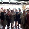 ladies from the Blackheath (M) Townswomen's Guild enjoy an Ascot themed day at Lord Morton's Tea Room.